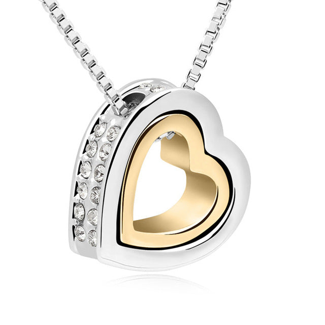 Austrian Crystal Luxury Heart Necklace