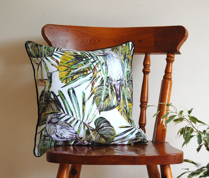 Tropical Bird Cushion
