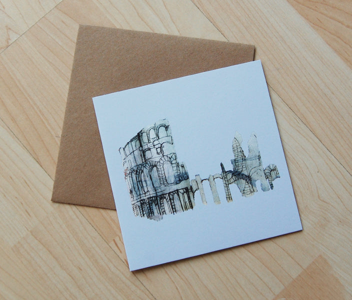 Coloseum Greetings Card