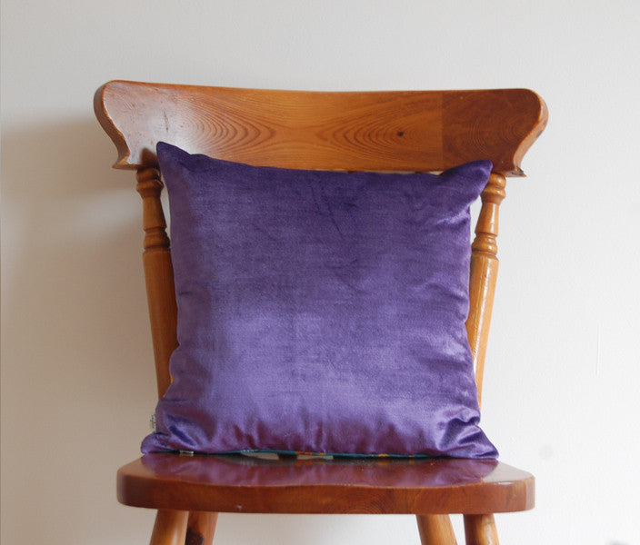 Illustrative Fuschia Cushion