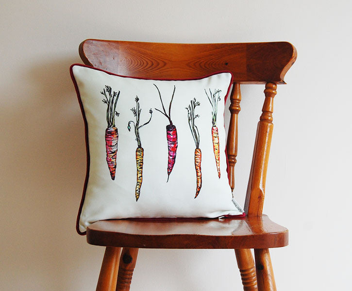 Rainbow Carrot Cushion