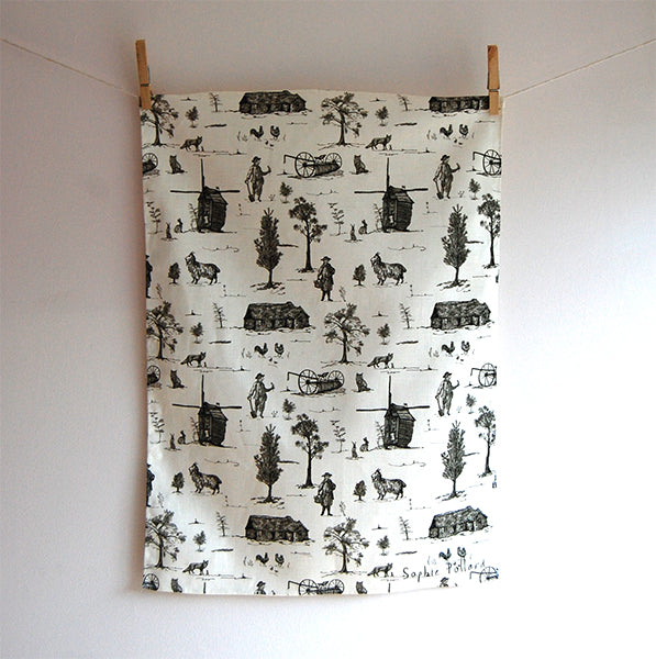 Toile Tea Towel