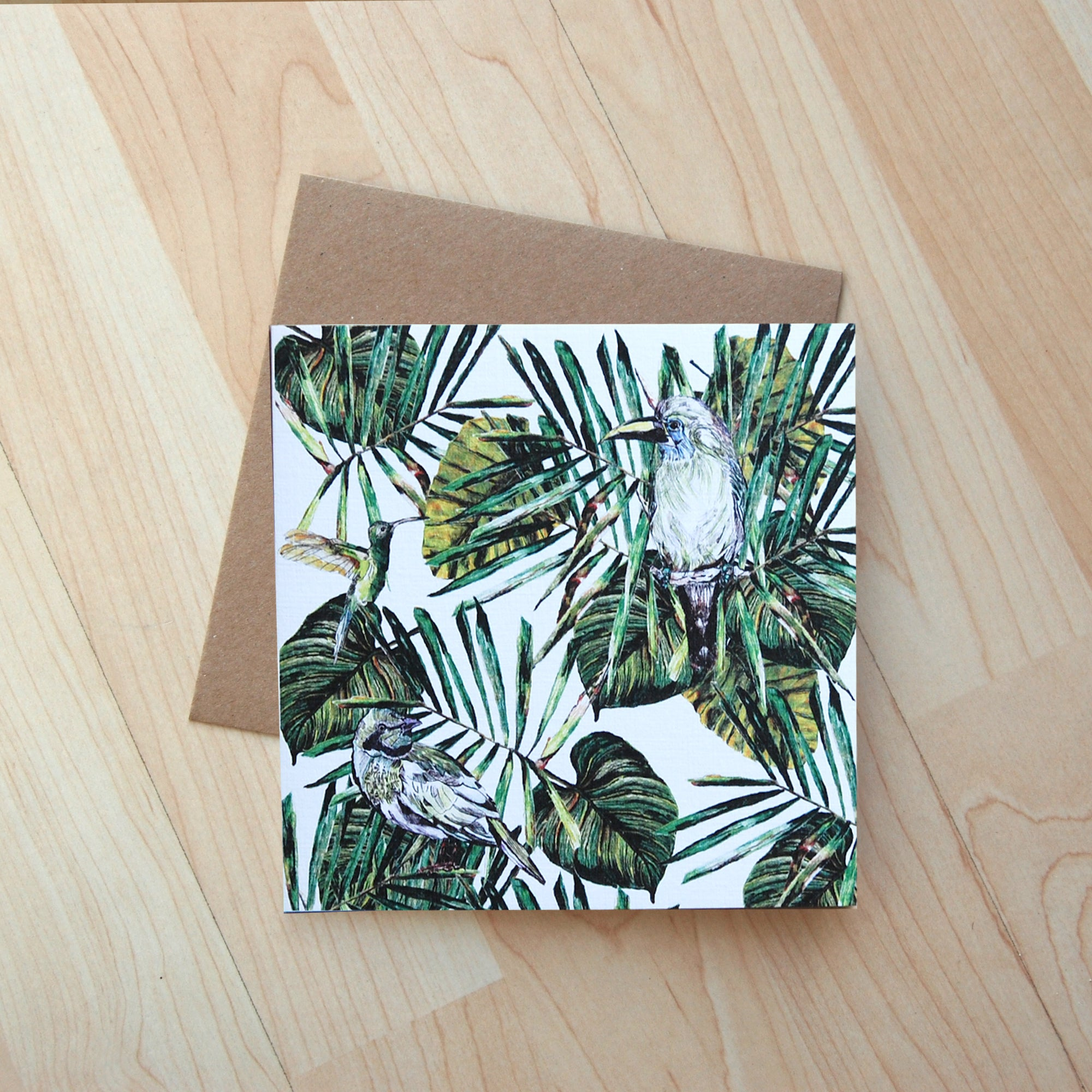 Tropical Birds Card