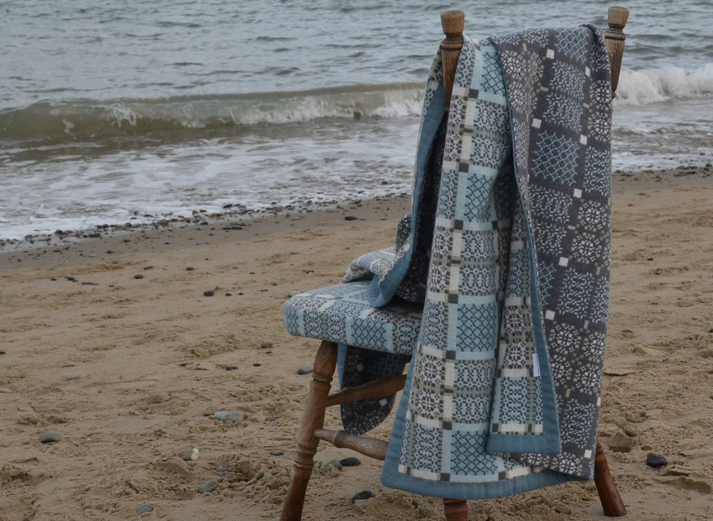 Welsh Wrap/ Throw by Chez Maison Knot Garden by Melin Tregwynt