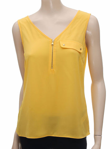 Ladies Sleeveless Tunic Top in Yellow - Frave Classics