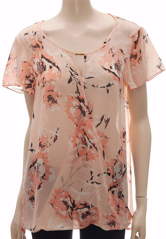 Plus Size Floral Print Tunic Top , , Tops & Shirts, Ex Chainstore Frave Classics