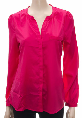 Women's Pink Long Sleeve Shirt , , Tops & Shirts, Ex Chainstore Frave Classics