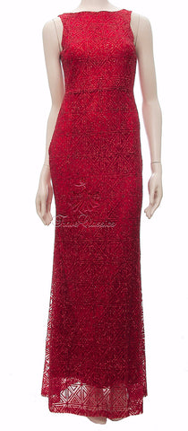 Red Glitter Evening Maxi Dress - Frave Classics - 1