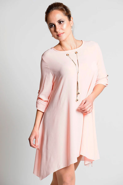 Peach Tunic with Necklace Detail - Frave Classics