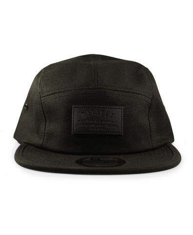5 Panel Leather Label | Black