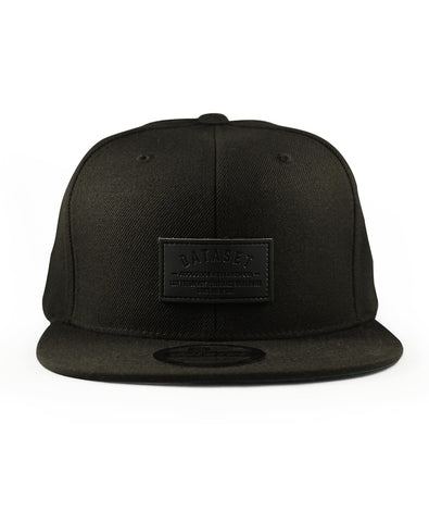 Snapback Leather Label | Black