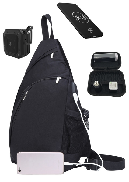 TECHQ Bug Out bag Accessory bundle for small laptops great for a weekend away!