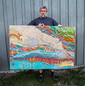 3D Geological Map. Santa Barbara, California.