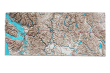 Pacific Northwest Trail, 3D Wooden Map, colored