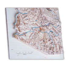Arizona 3D Wooden Map
