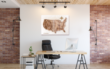 US Map In the Office, wood map, wooden map, wooden maps, wood maps, 3d wooden maps, 3d wood map, gifts for men, 3d wall art, wood topo map, wood topo maps, wood topgraphical map, wood topographical maps, maps on wood, wood carved map, USA wood map, wooden map of US