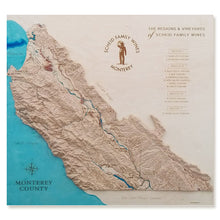 Custom topographic maps, California