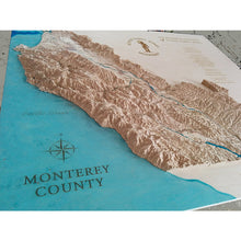 Monterey county custom wooden maps