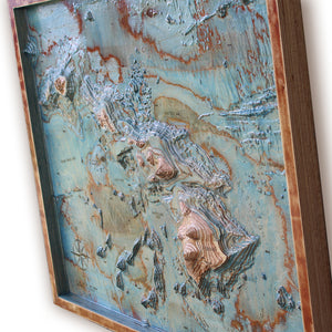 Hawaii bathymetry map, wood map, wooden map, wooden maps, wood maps, 3d wooden maps, 3d wood map, gifts for men, 3d wall art, wood topo map, wood topo maps, wood topgraphical map, wood topographical maps, maps on wood, wood carved map, Hawaii wood map, Hawaii wooden map