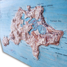 Rottnest Island, Western Australia, 3D Map, colored