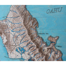 perspective of 3d OAHU map