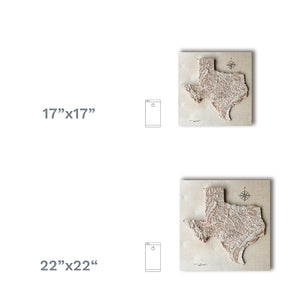 Texas wooden maps