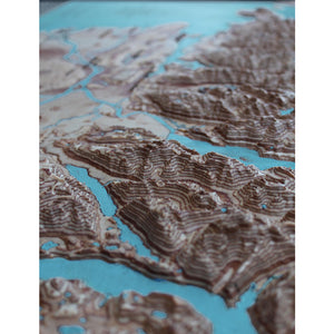 detail of 3d map, Canada, Vancouver