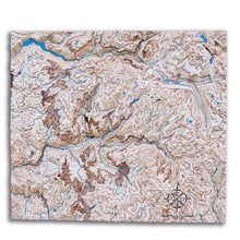 3D wood map of Yosemite National Park