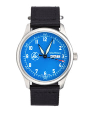 In Stock Minuteman  A11 Field Watch Powered by Ameriquartz Electric Blue Dial - The CGA Company