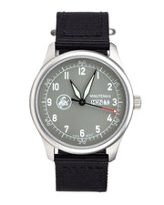 Minuteman  A11 Field Watch Powered by Ameriquartz USA Movt Black Nylon Strap Battleship Grey Dial - The CGA Company