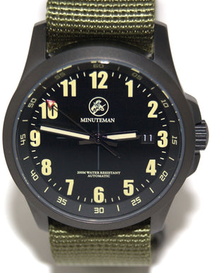 Minuteman  Alpha DLC Finish Military Strap wristwatch - The CGA Company