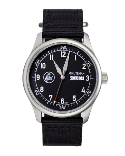 Pre-order Minuteman A11 Field Watch Black Dial Powered by Ameriquartz - The CGA Company