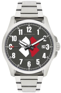 Minuteman  Team Rubicon Brushed Bracelet White/Red Logo Quartz wristwatch - The CGA Company