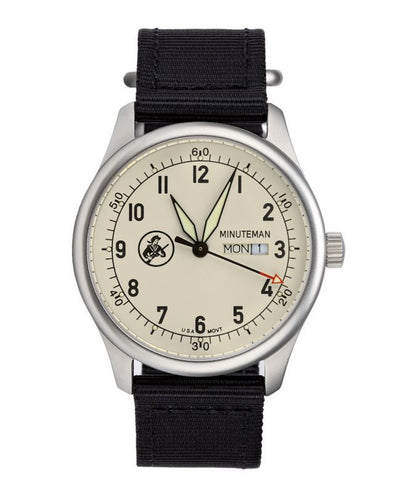 Pre-Order Minuteman A11 Field Watch Cream Dial Powered by Ameriquartz - The CGA Company