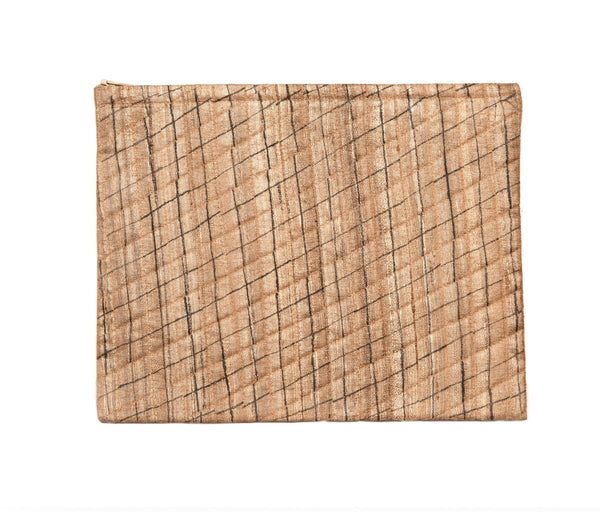 Beige Raw Silk IPad Case