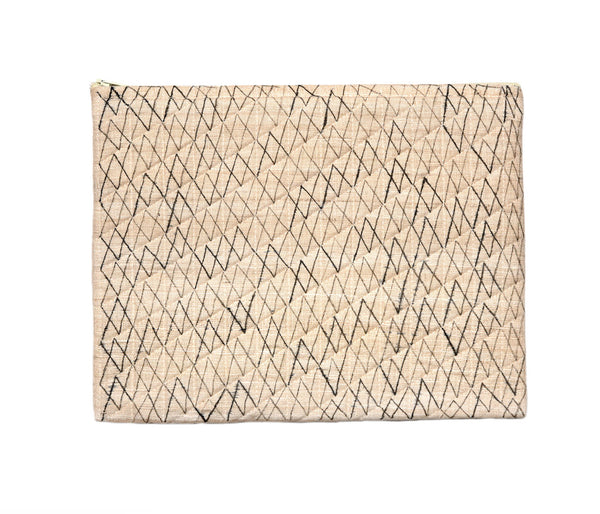 White Raw Silk IPad Case