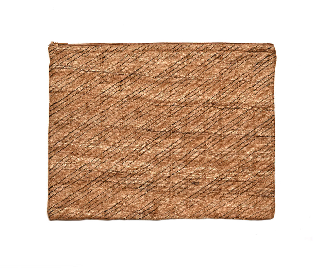 Gold Raw Silk IPad Case