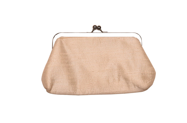Off-White Khadi Raw Silk Classic Clutch