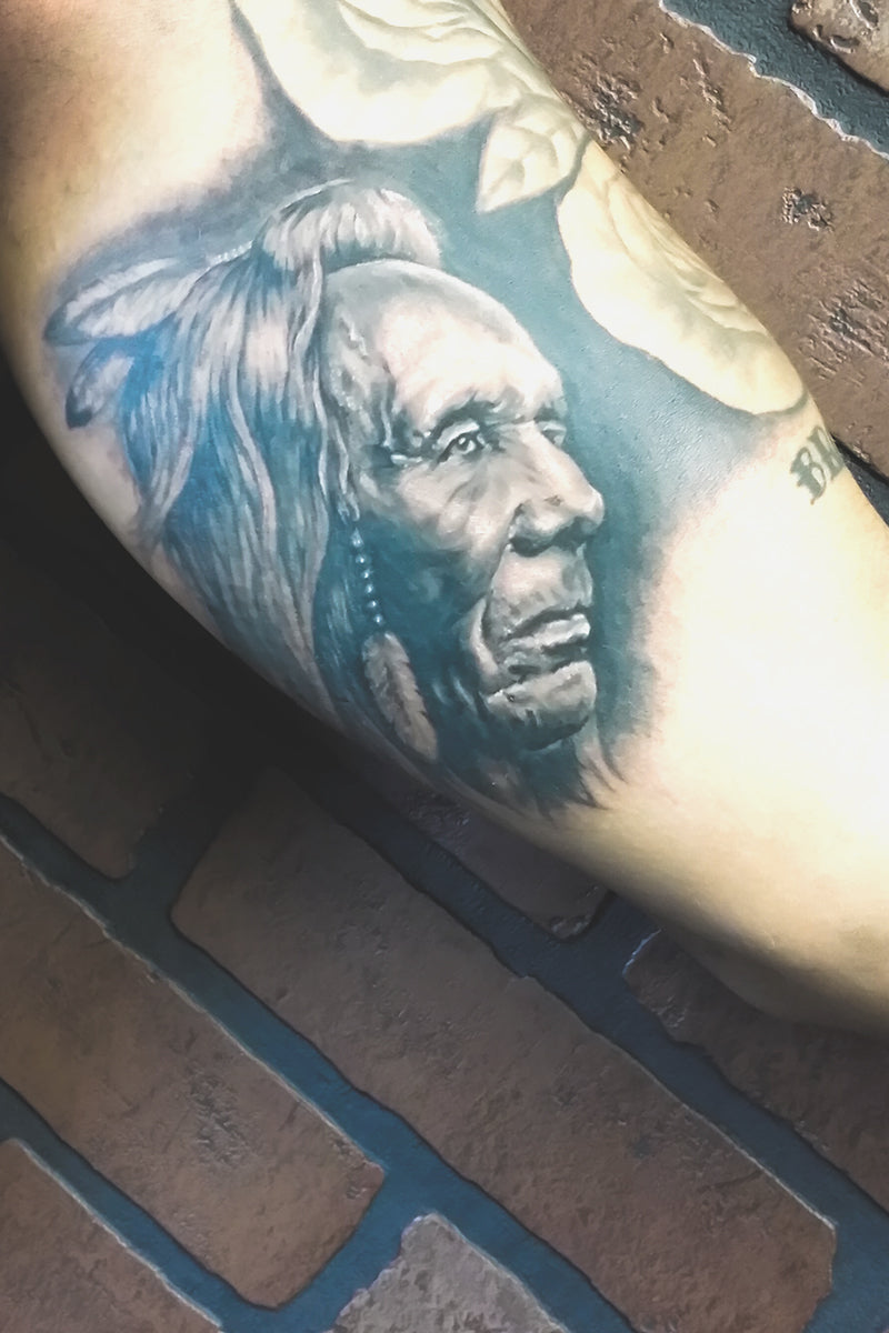 Portfolio 51 Native American Warrior Tattoo