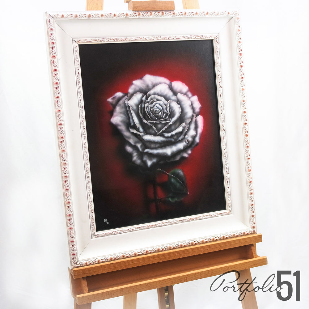 Portfolio 51 Dark Rose Acrylic Painting