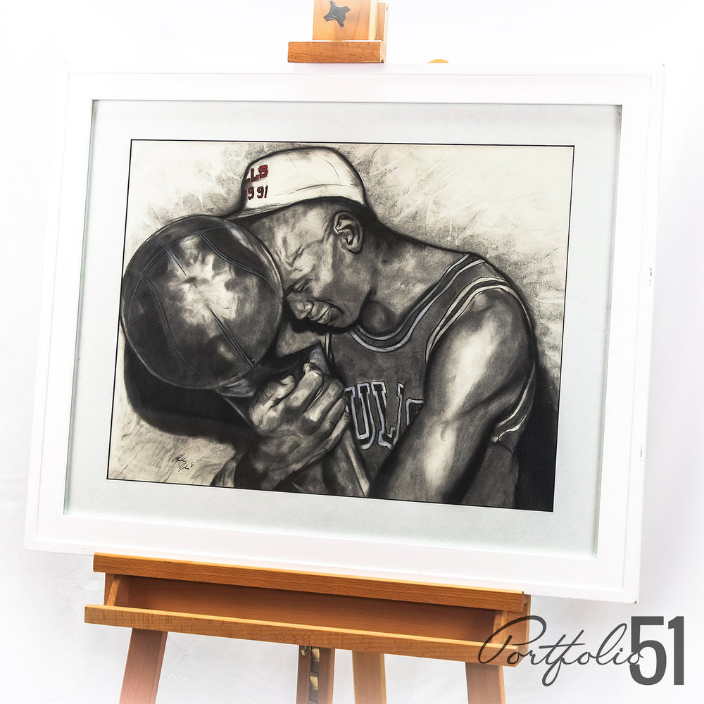 Portfolio 51 Michael Jordan Charcoal Drawing