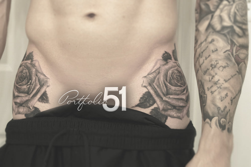 Portfolio 51 Hip Roses Tattoo