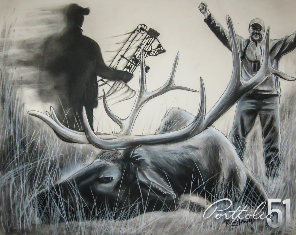 Portfolio 51 Elk Hunting Drawing