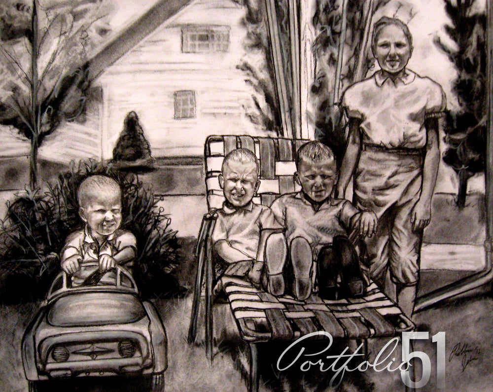 Portfolio 51 Vintage Family Drawing