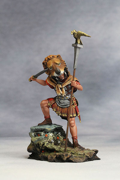 YZ54003 - Roman Aquilifer with Lion Felt (The 1st Century A.D.) from YZCaesar - Piers Christian Toy Soldiers - 2