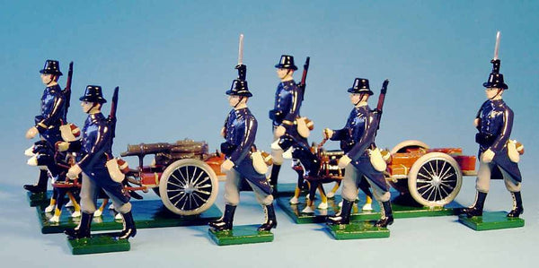 BG123 - Belgian Infantry 1914, Maxime Machine Gun Dog Cart Set by Beau Geste WWI - Piers Christian Toy Soldiers