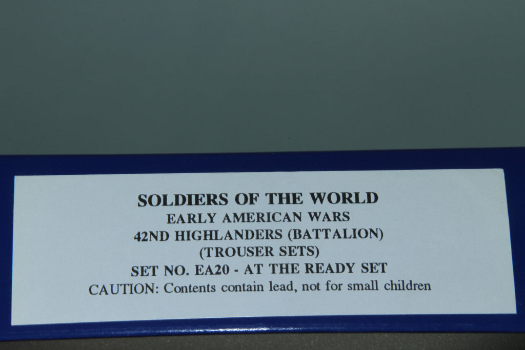 "EA20 - 42nd Highlanders ""At The Ready"" from Regal Toy Soldiers. Early American Wars"