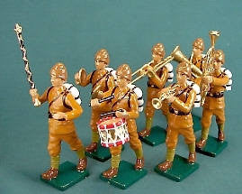 BG214 - Turkish Infantry Marching Military Band from Beau Geste - Piers Christian Toy Soldiers