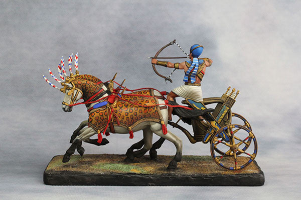 YZ54017 - Egyptian Chariot Pharaoh Ramses II (12th Century B.C.) by YZCaesar - Piers Christian Toy Soldiers - 6