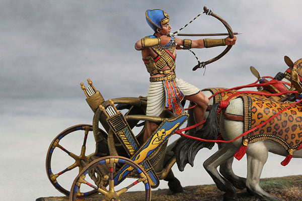 YZ54017 - Egyptian Chariot Pharaoh Ramses II (12th Century B.C.) by YZCaesar - Piers Christian Toy Soldiers - 5